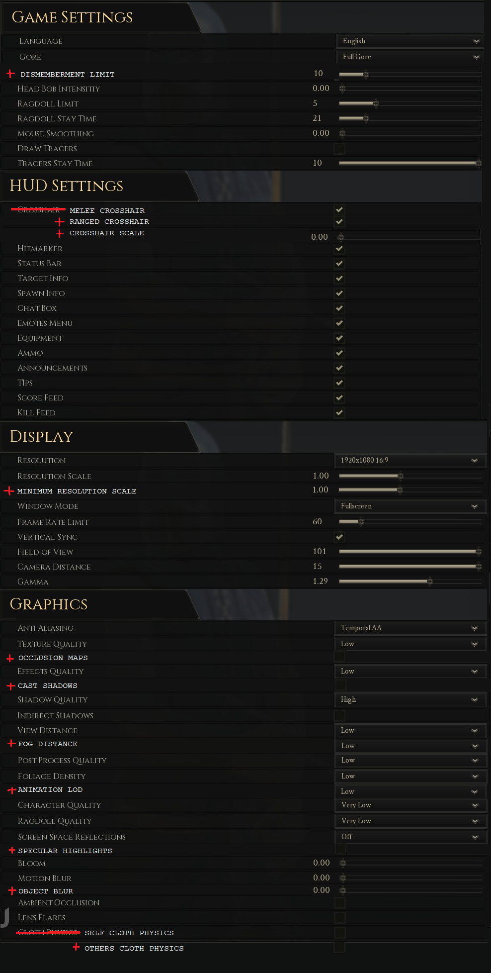 some graphic and HUD options that i would like to see