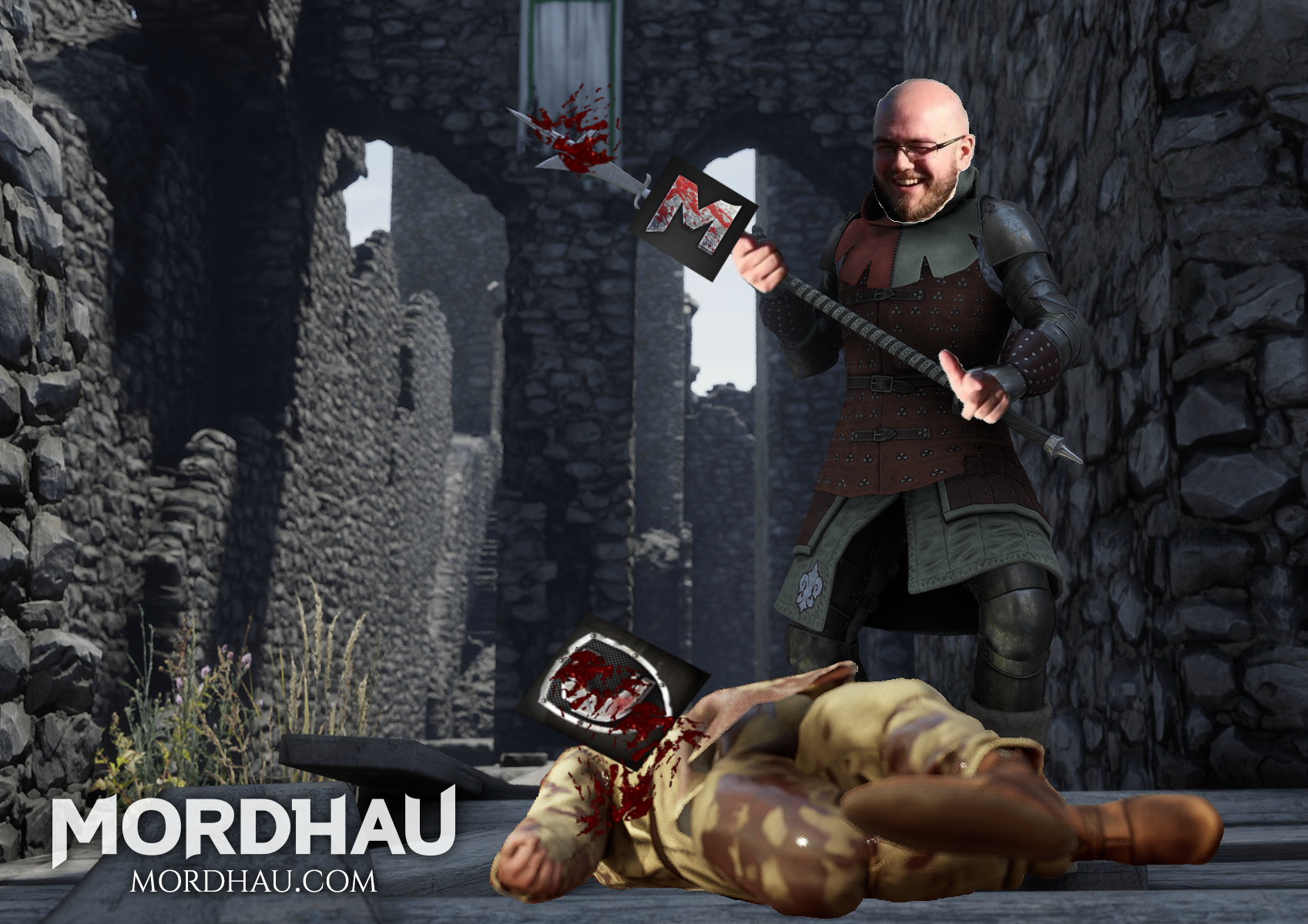 Marox stabs Chivalry to death with Mordhau Spear.png