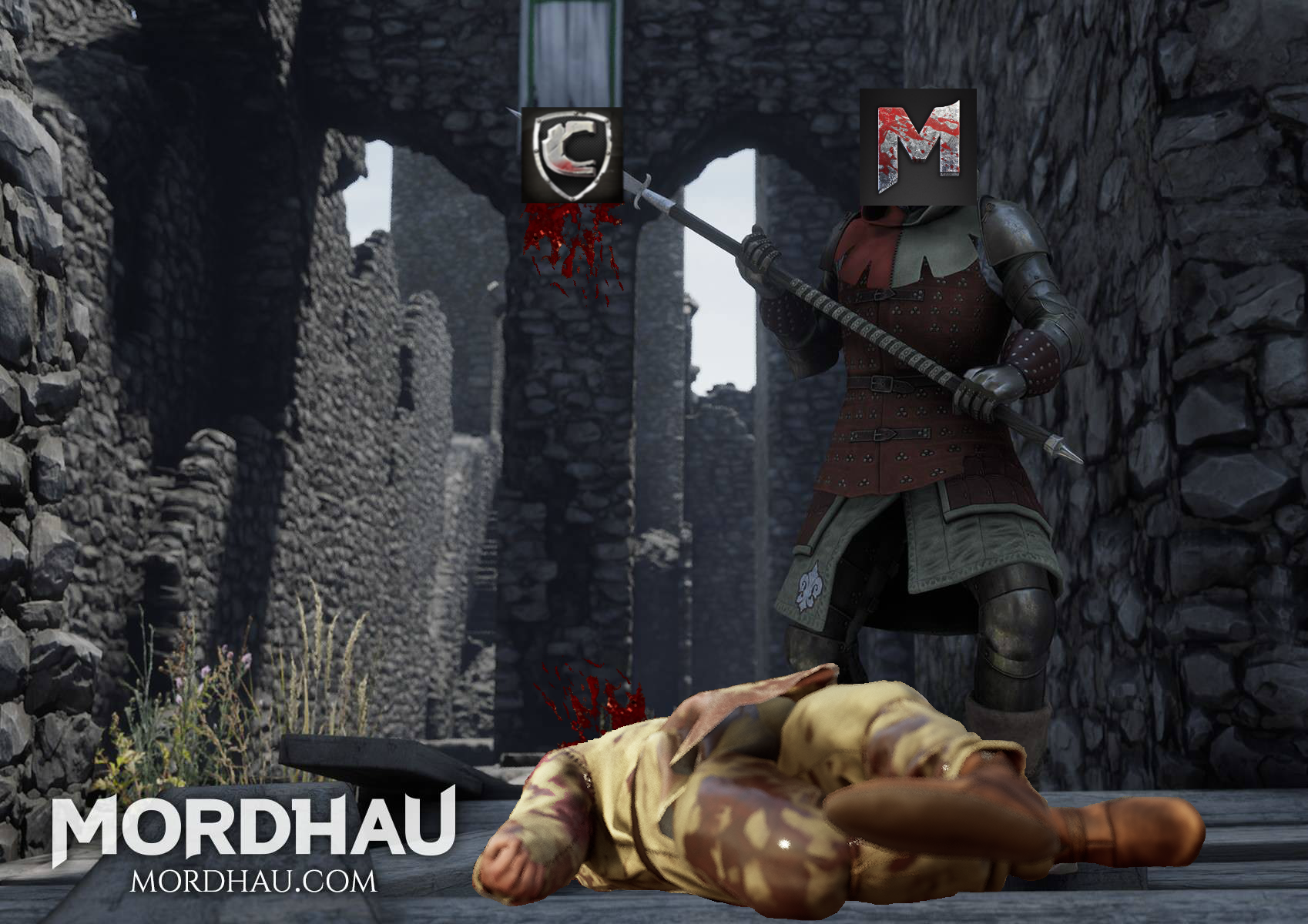 Mordhau puts Chivalry's Head on a Halberd.png
