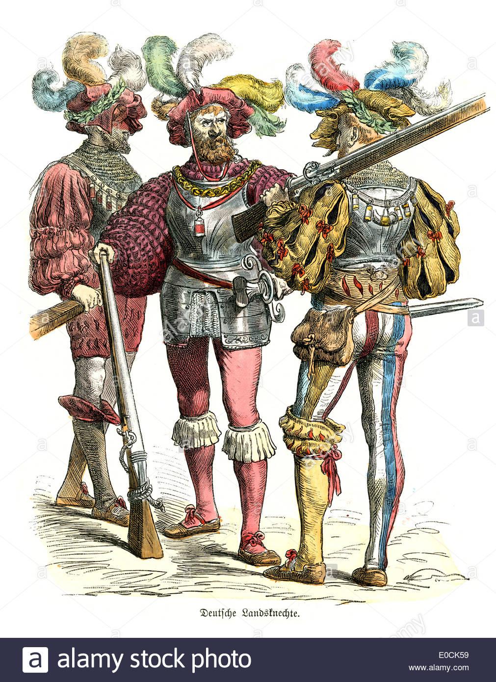 german-landsknechte-of-the-16th-century-the-german-landsknechte-were-E0CK59.jpg