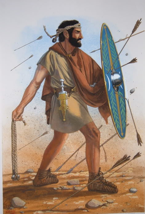 Roman-Slingers-wore-no-armor-and-carried-only-a-shield-aside-from-their-sling-and-ammunition.jpg